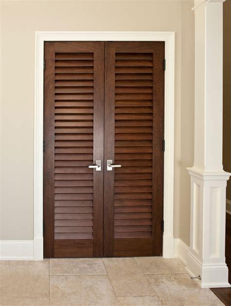 wooden louvered closet doors interior door custom solid wood with walnut finish classic model dbi 101lv dd