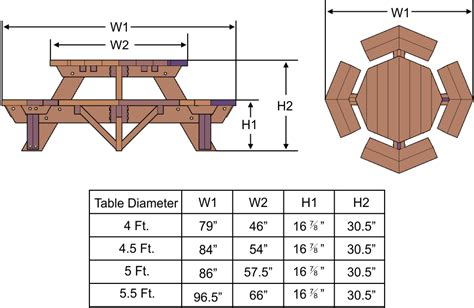 PDF Plans Building Plans Octagon Picnic Table Download