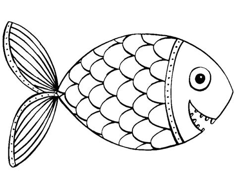 cute fish colouring pages