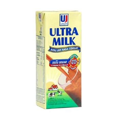 Ultra Milk Coklat 200ml jual ultra jaya ultra milk coklat 250 ml 6 pcs