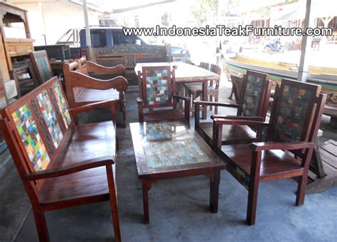 boat salvage furniture boat wood furniture from bali recycle wood furniture java