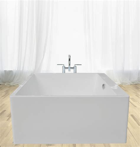 square bathtub aquatica ps324 freestanding square acrylic bathtub in white