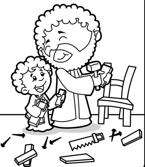 coloring pages jesus and joseph joseph