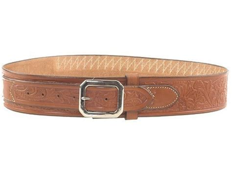 cartridge belt cowboy style 45 cal tooled leather brown