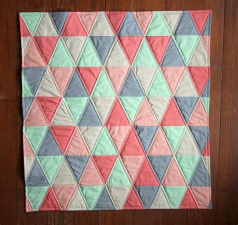 Triangle Baby Quilt Pattern by Handmade Baby Quilt Isosceles Triangle Quilt Mint