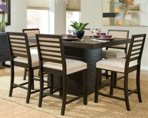 counter height dining room table sets modern dining room sets to give trendy look in modern home