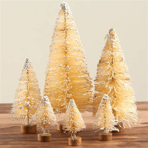 bottle brush christmas trees wholesale assorted frosted vintage bottle brush trees miniatures and winter