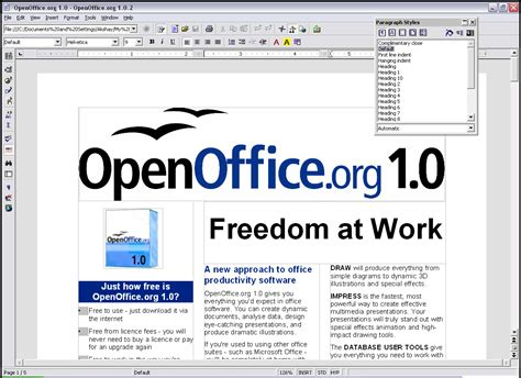 Office Free by Openoffice Org