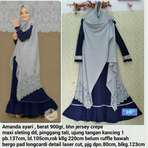 Gamis Amanda Syari Baju Hijabers Muslim miftah shop distributor supplier tangan pertama baju