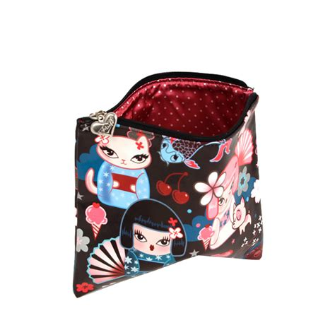 These Terry Cloth Toiletry Bags Make Packing Up The Bathroom by Kimono Cuties Flat Makeup Bag Canvas Make Up Bags Buy