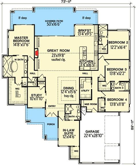 Plan 31185D: 4 Bedroom Modern with In Law Suite   Modern