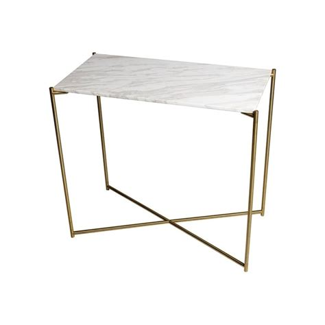 Small Console Table Buy Marble Small Console Table With Brass Cross Base At Fusion Living