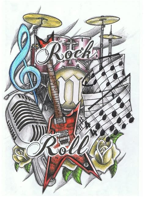 2015 new tattoo designs rock n roll design new school best designs