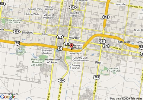 where is mcallen texas on the map map of residence inn mcallen mcallen