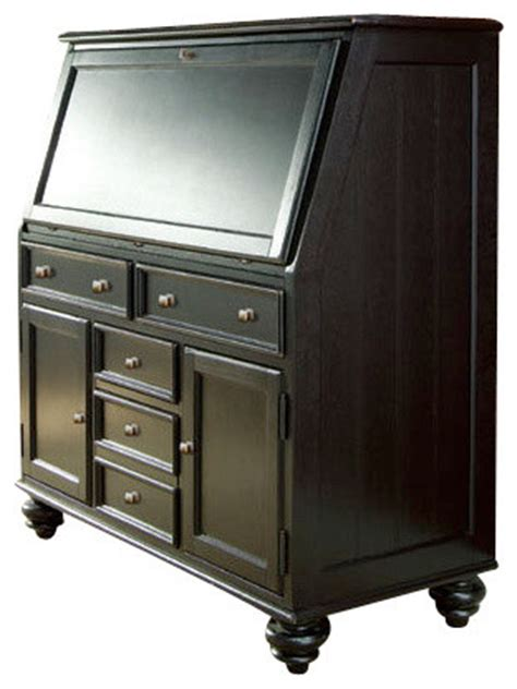 camden drop lid desk hammary camden drop lid work station in black