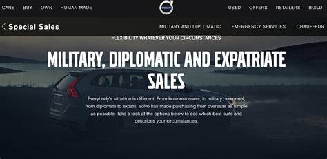 volvo diplomatic military sales customer service roi