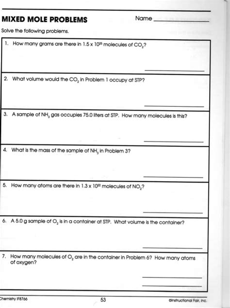 Gram To Gram Stoichiometry Worksheet Answers