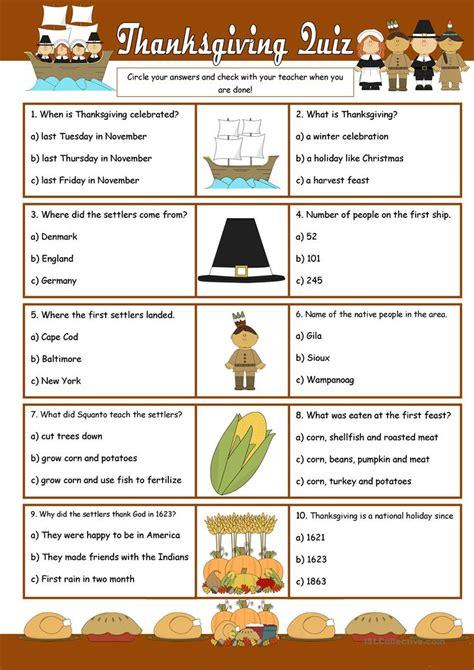 printable thanksgiving quiz games thanksgiving quiz worksheet free esl printable
