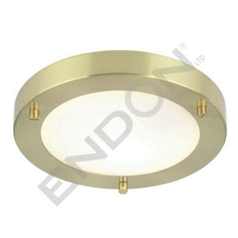 Endon Bathroom Lights Endon Enluce Modern Flush Fitting Bathroom Light Brushed Brass El 440 18bb At