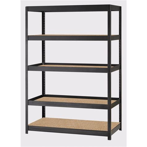 garage shelving lowes edsal 72 in h x 48 in w x 24 in d 5 tier steel freestanding shelving unit lowe s canada