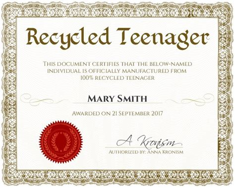 certificate of recycling template certificate of recycling template planing employee of the