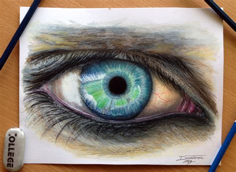 sketchbook photo album eye color pencil drawing by atomiccircus on deviantart