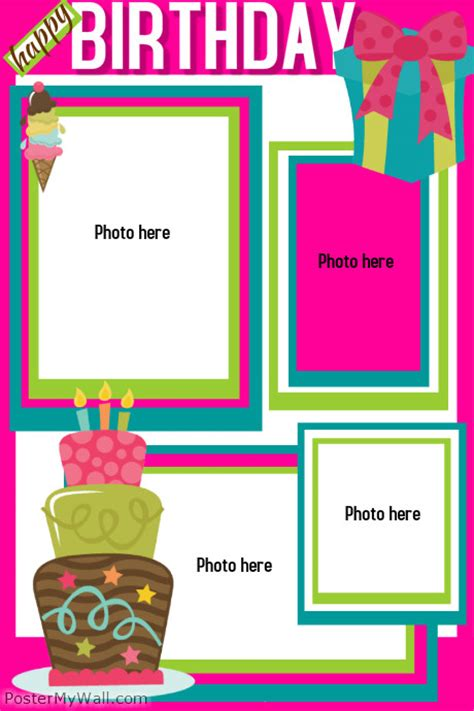 Birthday Template Postermywall Birthday Poster Template