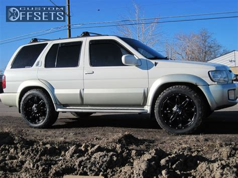 infiniti qx4 lifted wheel offset 2002 infiniti qx4 slightly aggressive stock