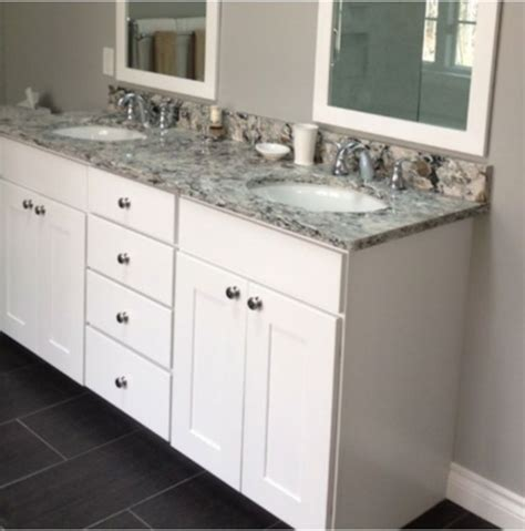 kabinart white shaker vanity bathrooms