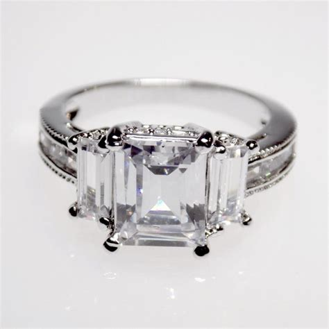 5 1 carat emerald cut engagement ring wedding ring