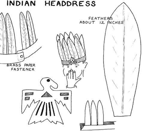headdress template how to make american indian headdress for