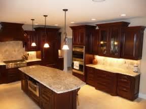dark cherry kitchen cabinets dark cherry kitchen remodel before after traditional