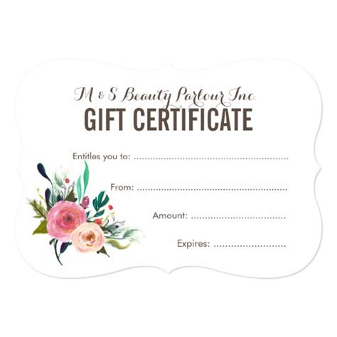 free printable hair salon gift certificate template painted floral salon gift certificate template zazzle ca