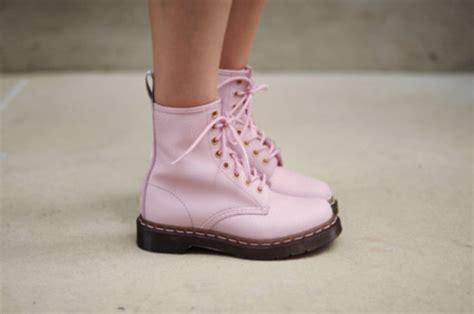 light pink doc martens shoes boots shoe pink light pink laces pink laces