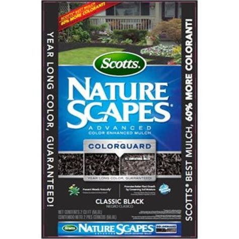 Home Depot Scotts Mulch by Scotts Nature Scapes 2 Cu Ft Advanced Black Mulch