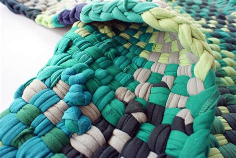 rug made from tshirts bushwick s aelfie studio transforms t shirts into soft throw rugs inhabitat new york