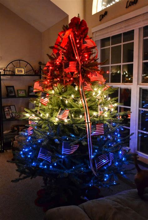 confessions   holiday junkie christmas  july day  patriotic christmas trees   budget