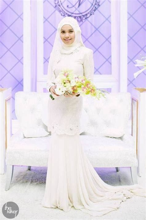 Gaun Pengantin Kebaya Muslimah Modern Masa Kini