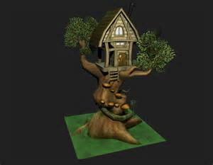 Low poly treehouse by genghiskwan on deviantart
