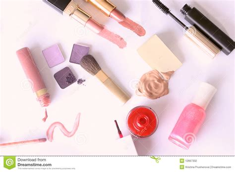 Set Of 7 Makeup Tool Set professional makeup tools set stock photography image