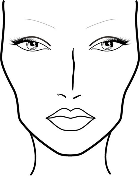 blank mac face charts printable maquillajes pinterest