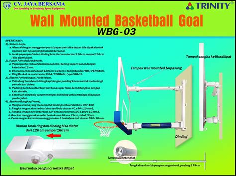 Harga Cara Membuat Ring Basket Dari Kayu ring basket wall mounted wbg 03 distributor alat olahraga