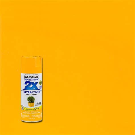 rust oleum painter s touch 2x 12 oz golden sunset gloss general purpose spray paint 299910