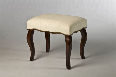 Vanity Stool by Hamilton Backless Vanity Stool With Nailhead Trim