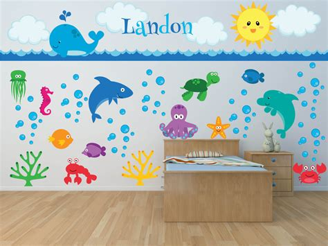 Nursery Wall Decals Sea Animal Wall Decal Ocean Wall Nursery Animal Wall Decals