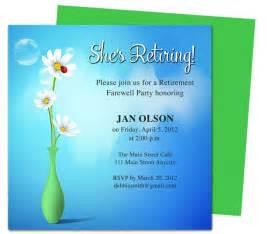 Retirement Template Free by Free Printable Retirement Invitations Badbrya
