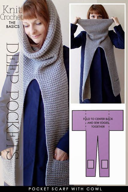 knitting pattern for a scarf with pockets needlecrafts knit crochet pocket scarves embellished