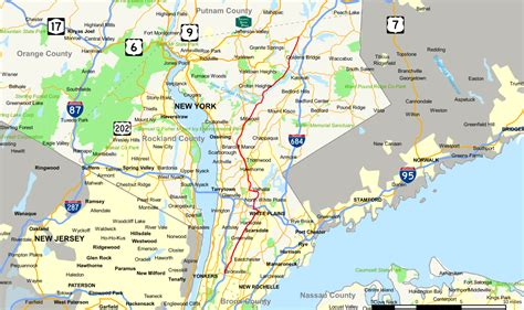 map of westchester ny new york state route 100