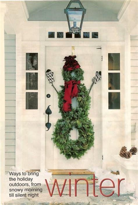 wreath ideas for front door snowman front door wreath christmas ideas holiday
