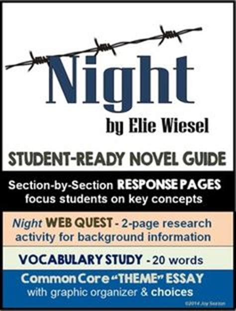 theme essay on night by elie wiesel 1000 images about night by elie wiesel on pinterest